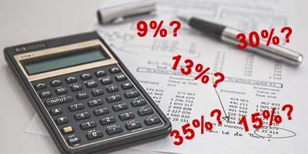 Стандартная ставка, применимая к зарплате — 13%
