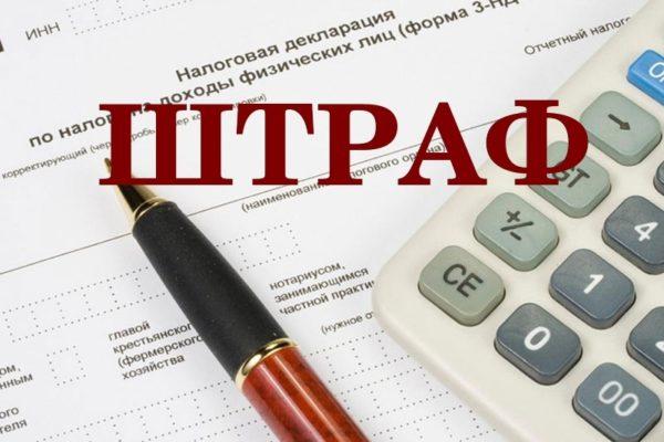 Штраф за несвоевременную сдачу декларации в налоговые органы