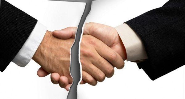 Официально уведомить контрагента о прекращении соблюдения договорённости – цивилизованная мера решения вопроса