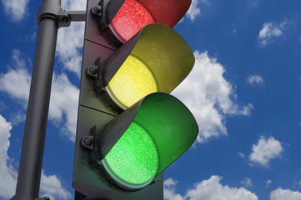 Неисправный светофор