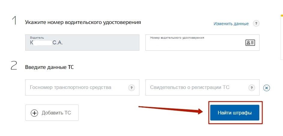 Для получения сведений достаточно указать регистрационные данные