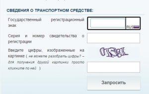 Форма на официальном сайте госавтоинспекции