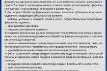 Статья 4.6. Договор на обработку фискальных данных (ФЗ № 54)